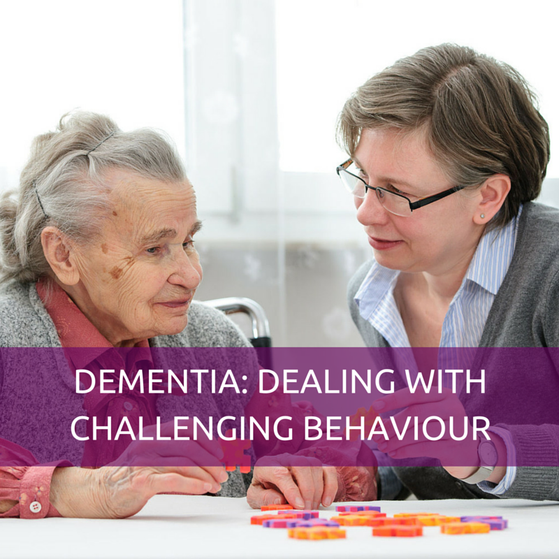 DEMENTIA – DEALING WITH CHALLENGING BEHAVIOUR